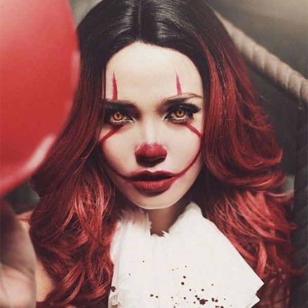 IT clown makeup