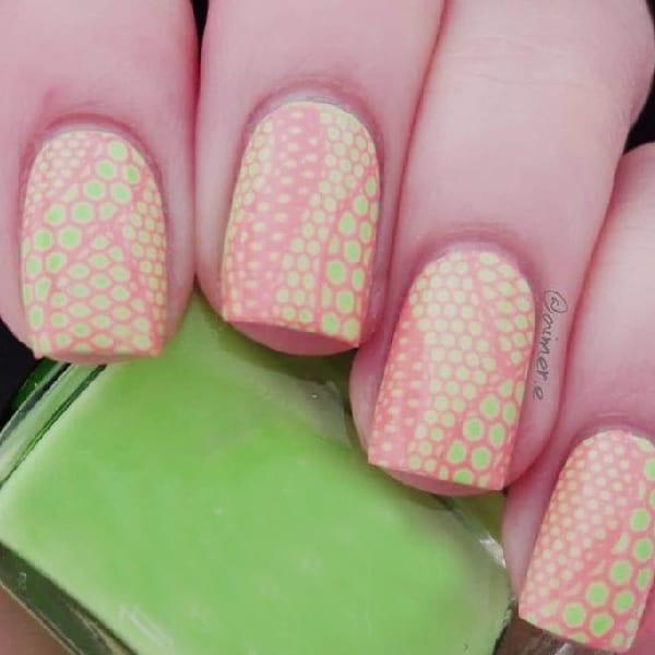 Neon Snake-Shell Pattern