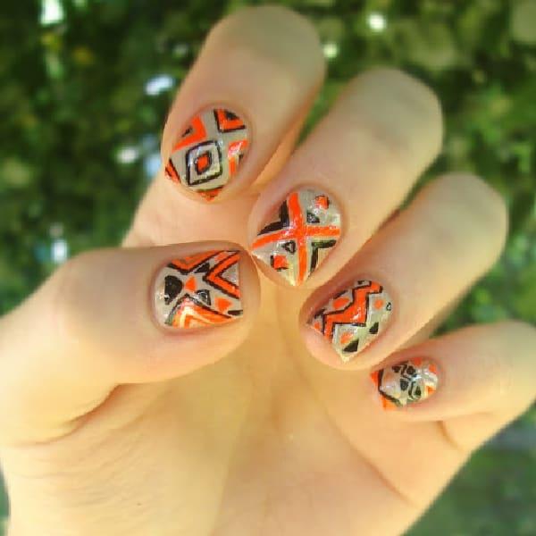 Orange Tribal Pattern