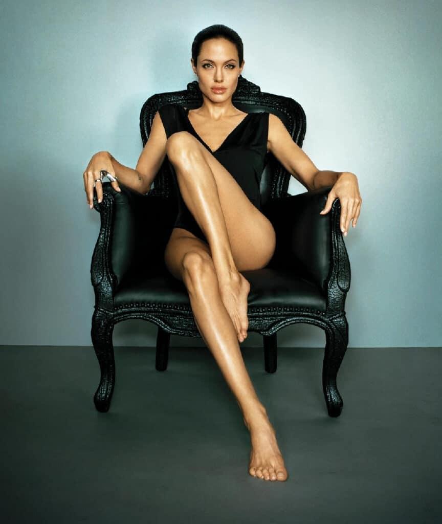 Angelina Jolie beautiful legs