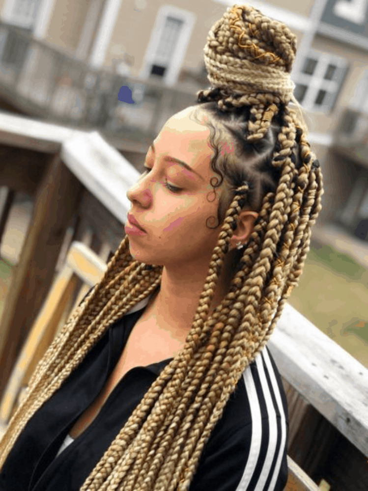 african Blonde Box Braids
