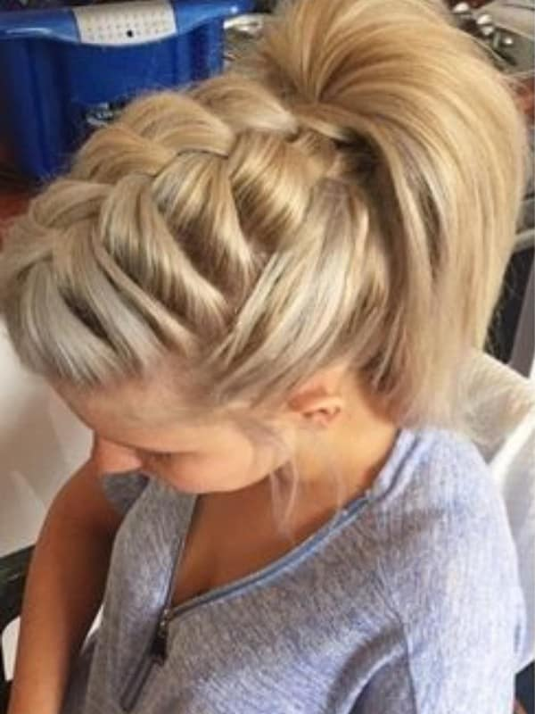 Braided High Ponytail with Front Side Braids