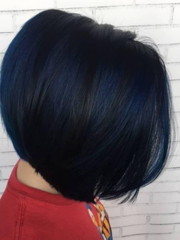 Dark Navy Blue Short Hair
