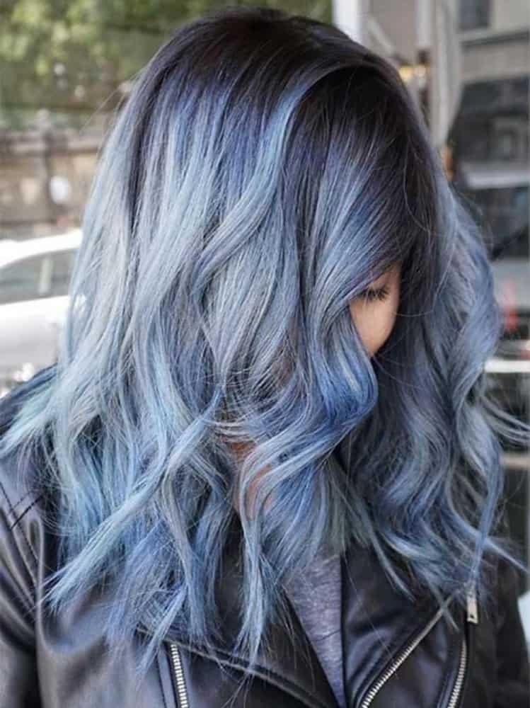 Denim Colored Hair Shade Long