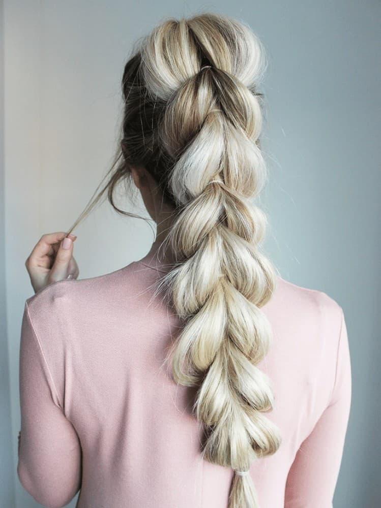 French pull through braids