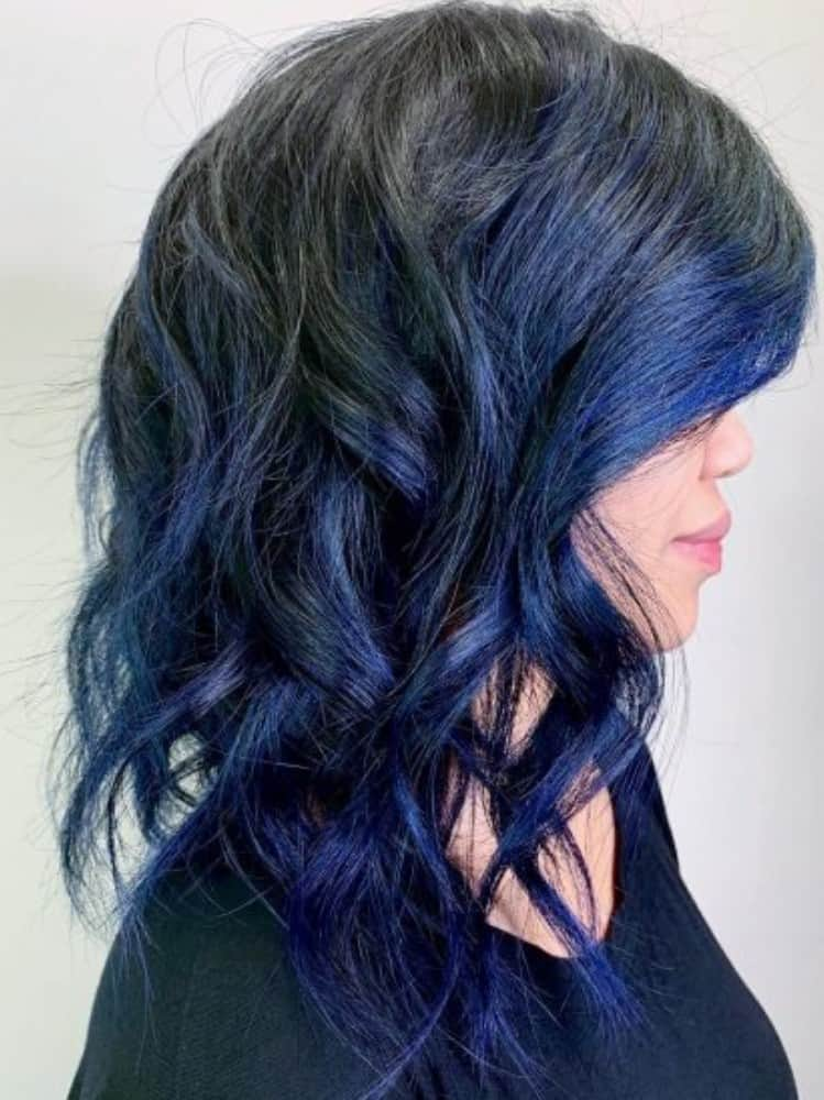 Intense blue and Black