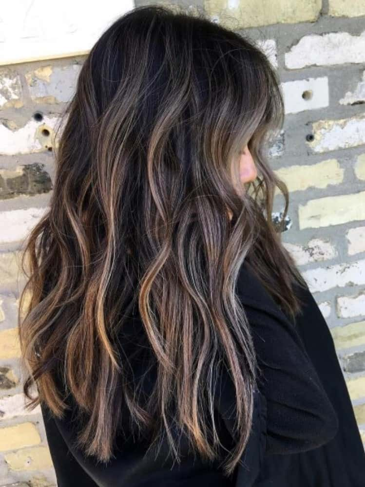 Jet Black With Highlights