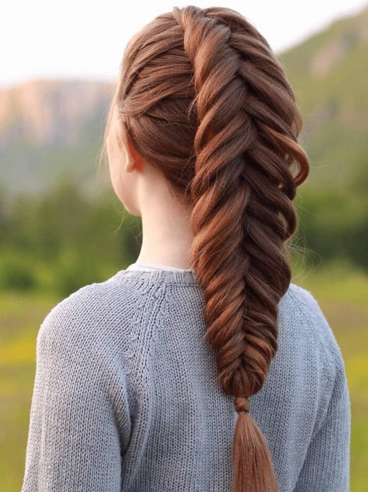 Long Fishbone Braids
