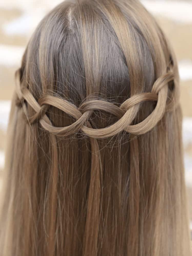 Loop waterfall braids