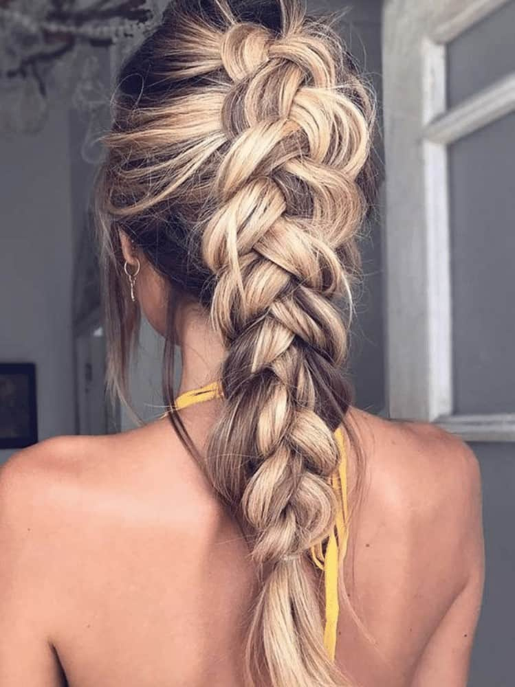 Loose French braids