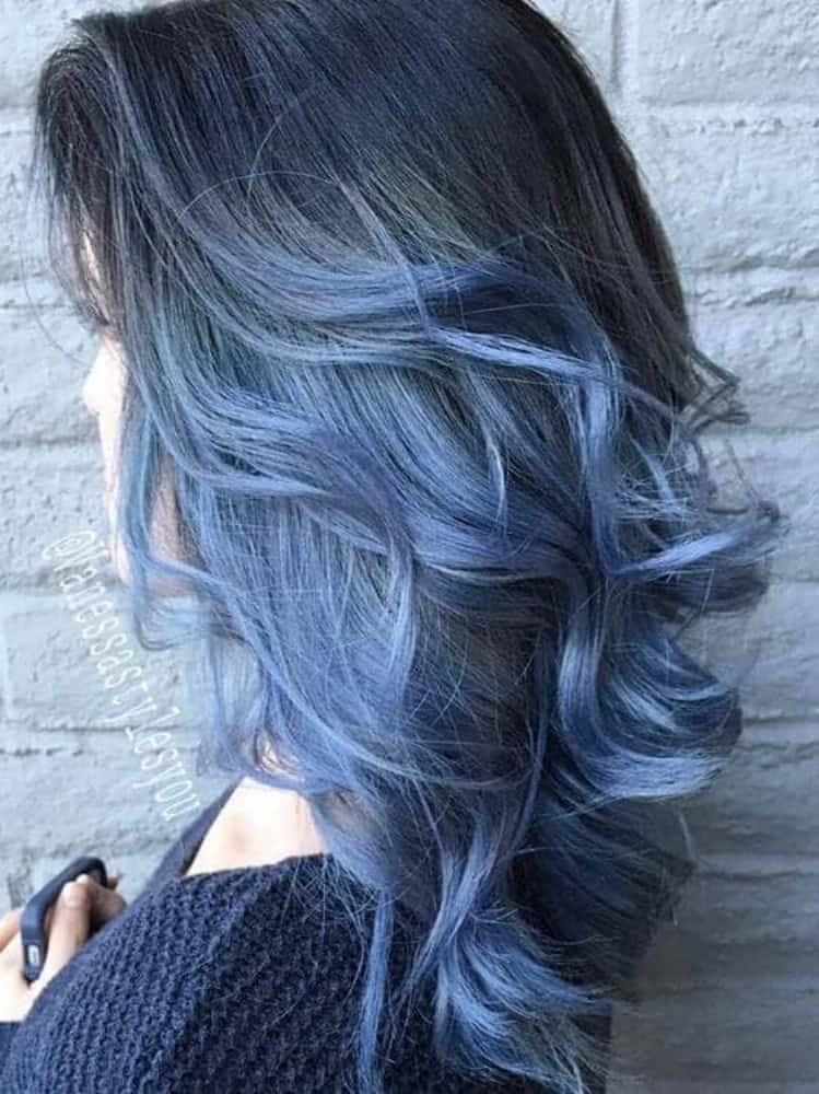 Medium Blue Jean Colored Hair