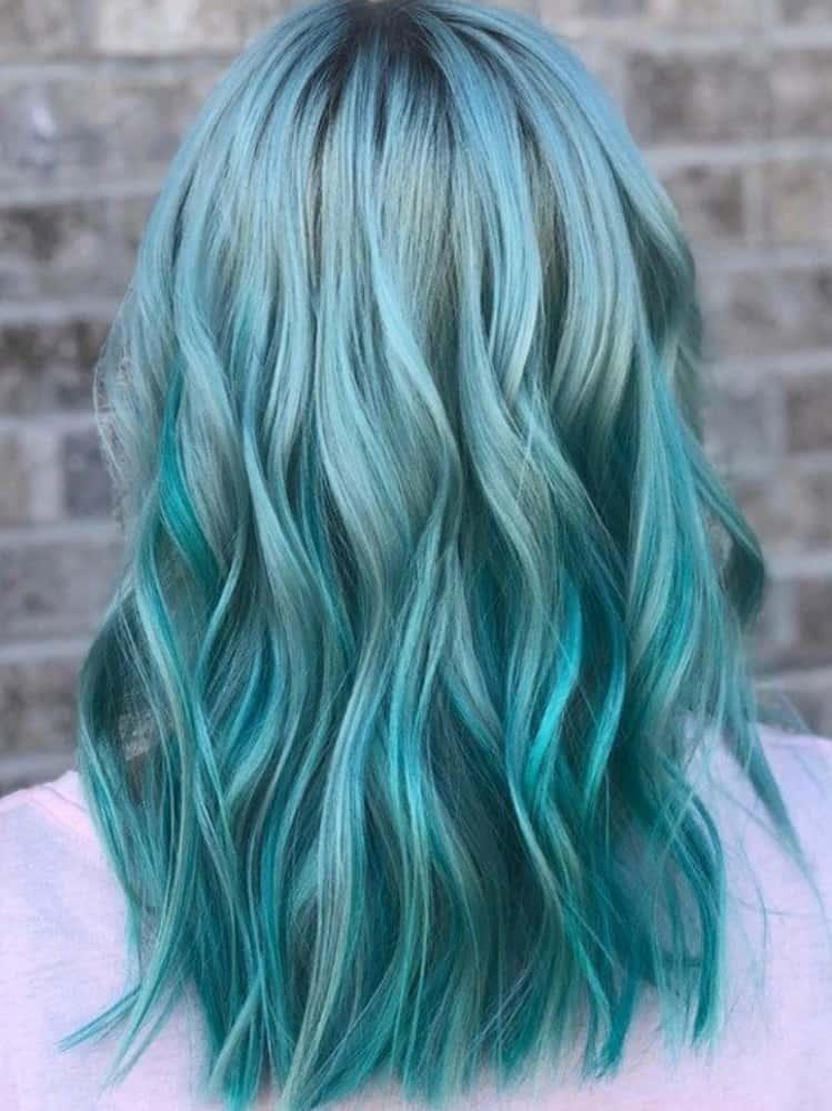 Mermaid Hair Blue Green Shade