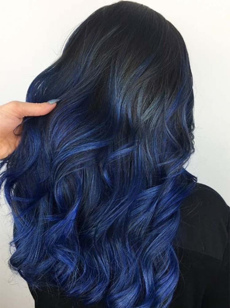 Perfect Black Blue Ombre