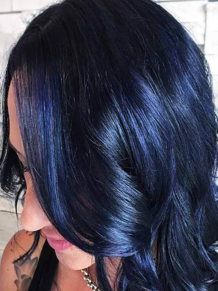 Rich Blue and Black Hue