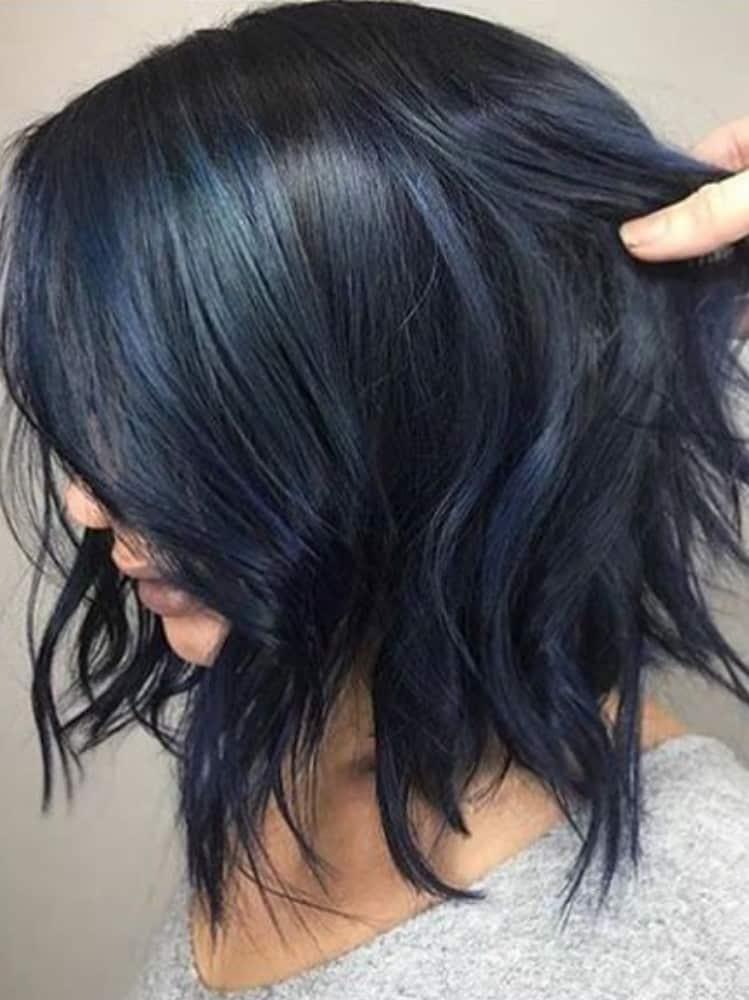 Short Blue Black Hair