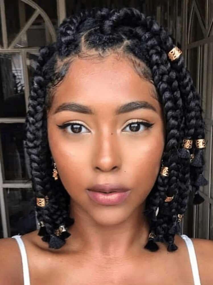 Short Twist Braids with Beads
