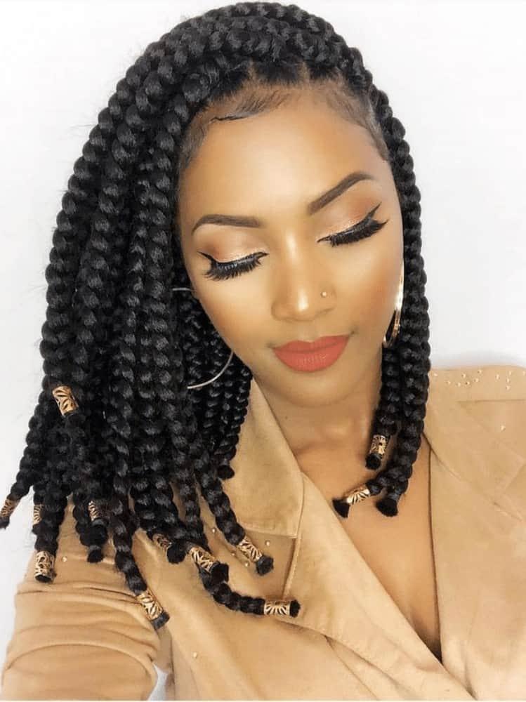 Shoulder-Length African Braids