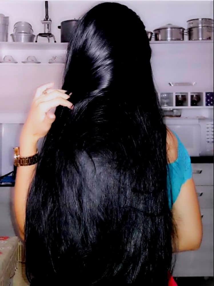 black Lovely Long Straight Hair