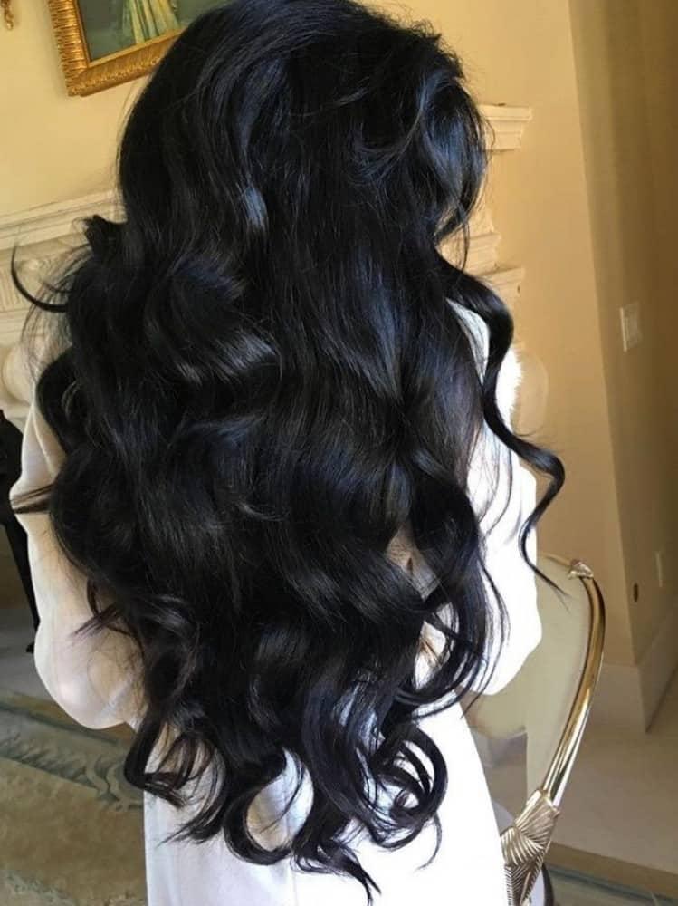 Shiny Wavy Hair
