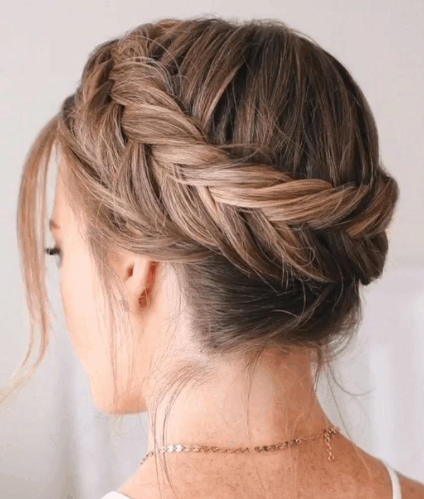 Dutch braid crown