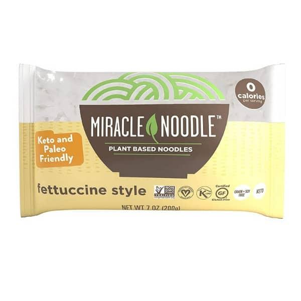 miracle noodle plant based noodles fettuccine style