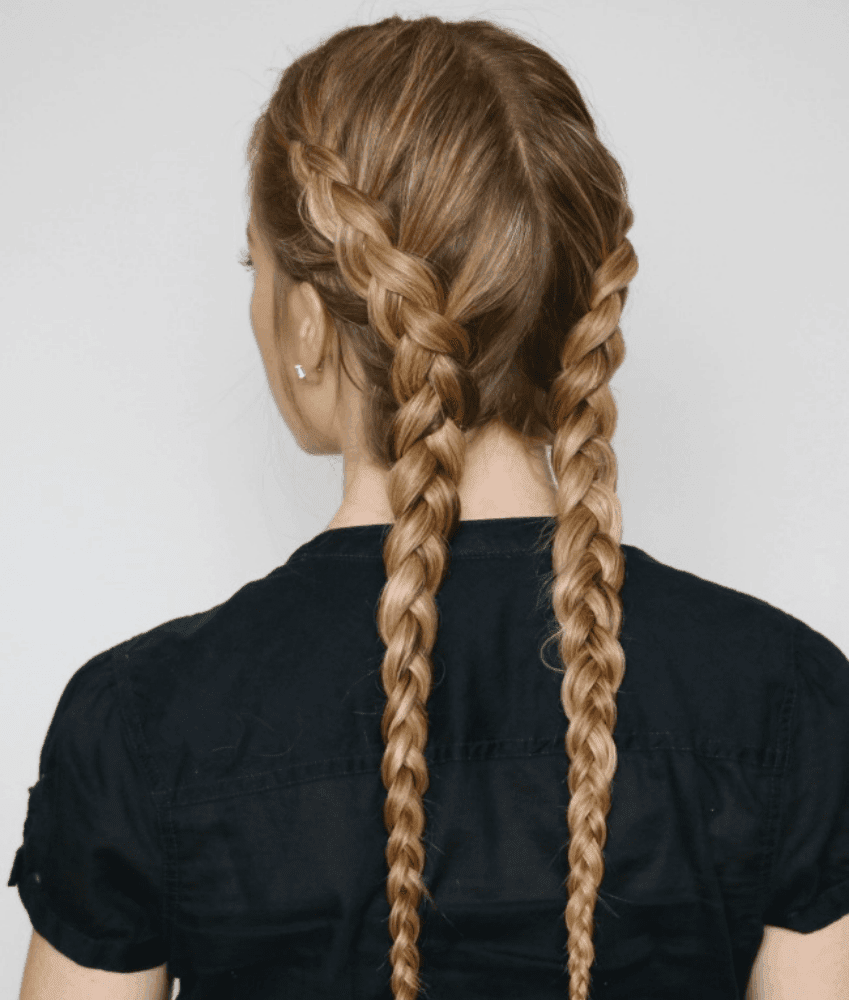 two dutch braids