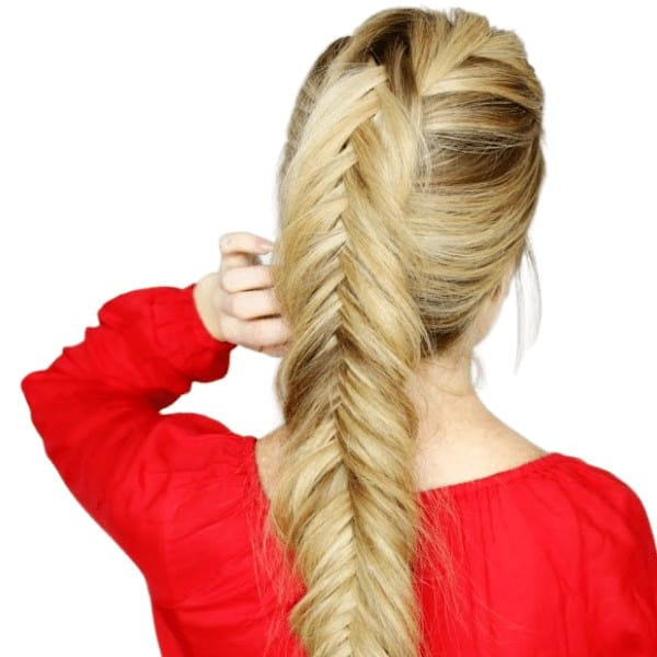 A mix of fishtail and French