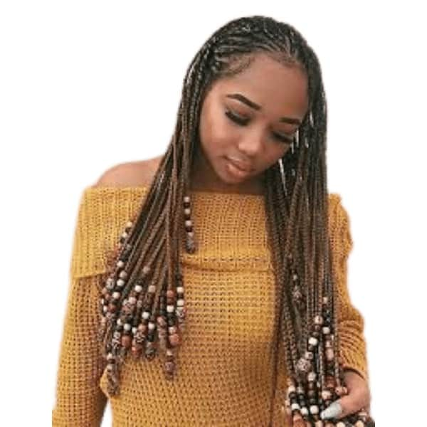 Braids with Beads and Wraps lemonade