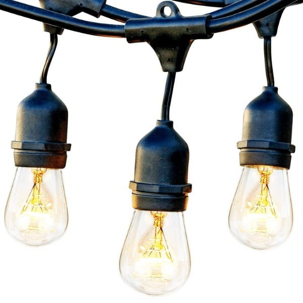 Brightech Ambience Pro Waterproof, Solar-powered Outdoor String Lights
