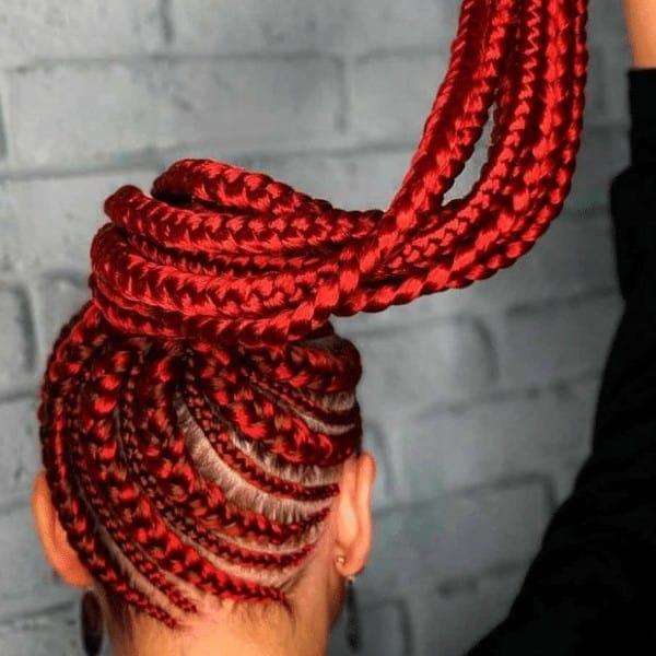 Cherry lemonade braids