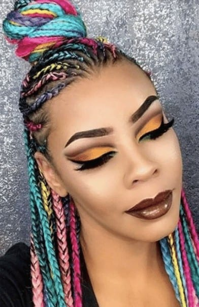 Colorful Yarn Braided Hair
