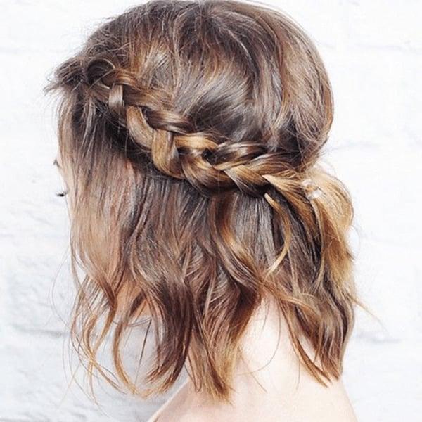 Crown Braid for Mid-Length Hair