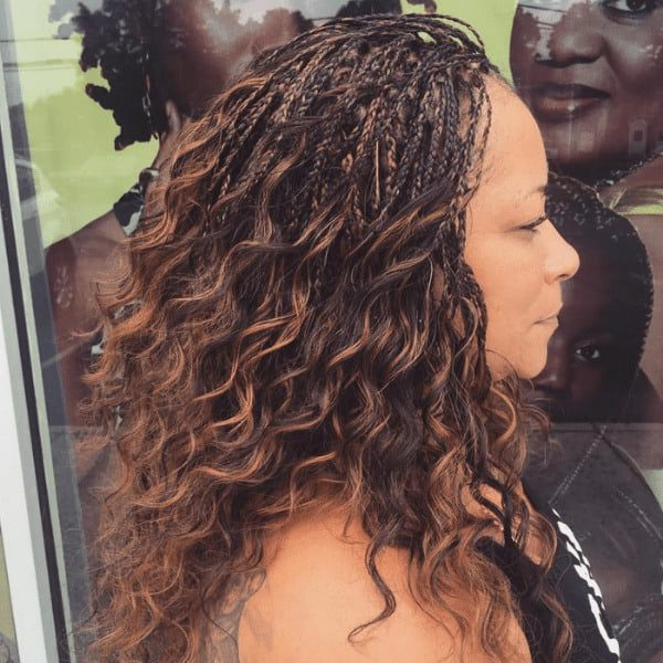 Curls with highlights hairstyle