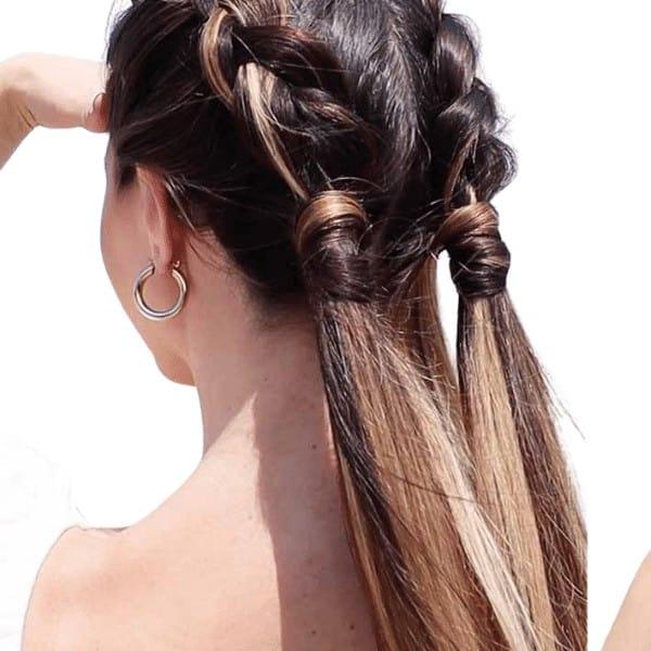 Dutch type double halo braids