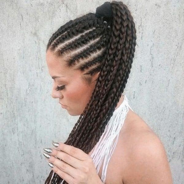 French braid cornrows