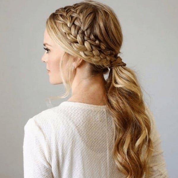 French type of side braid