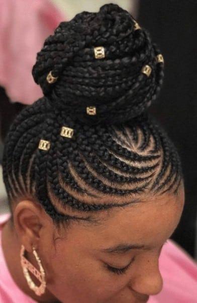 Ghana braids with unique accessories