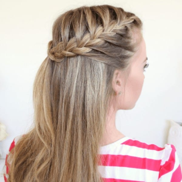Half up French braided hairstyle