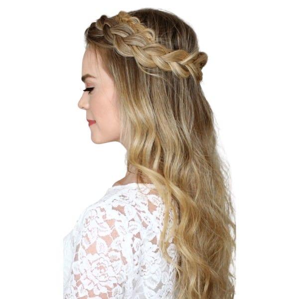 Elegant halo braids