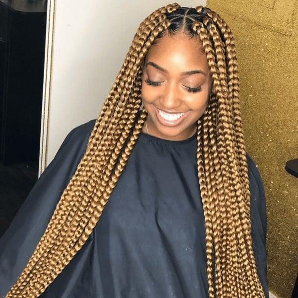 Hazel brown jumbo braids