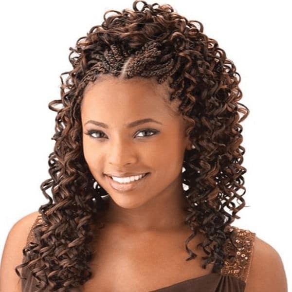 Hot curly micro braids