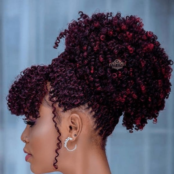 Hot updo tree braids