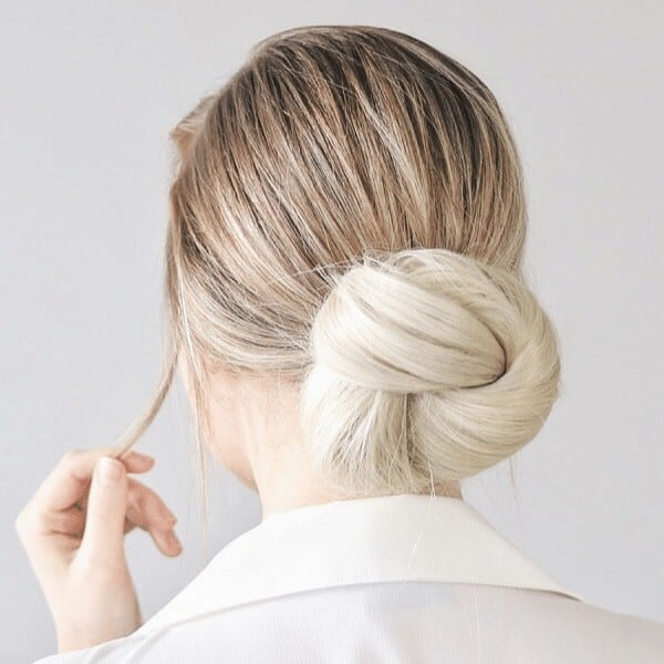 Knotted bun hairstyle