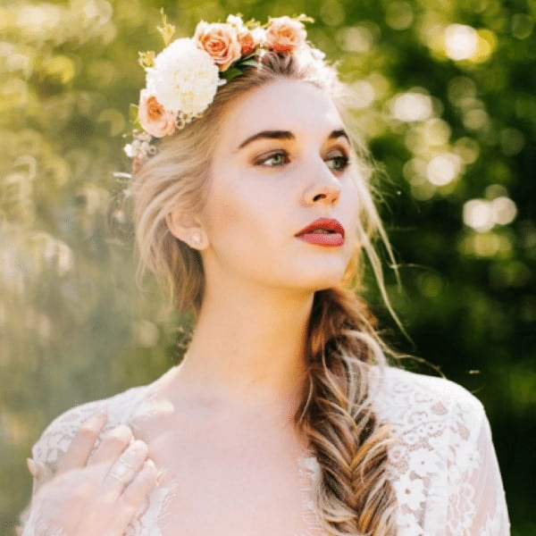 Lace braids with flowers
