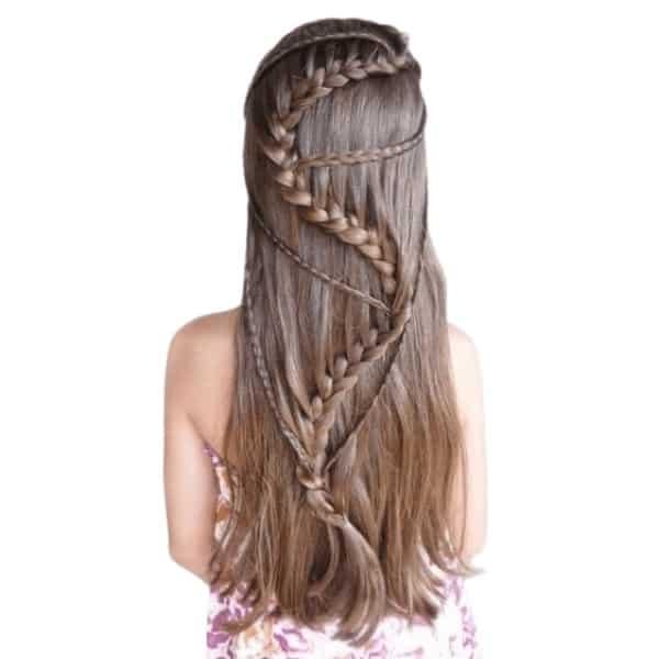 Long lace hair braid