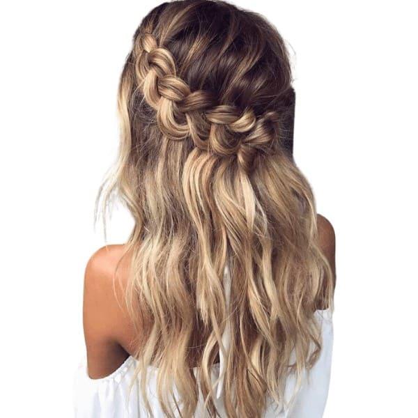 Loose halo braids