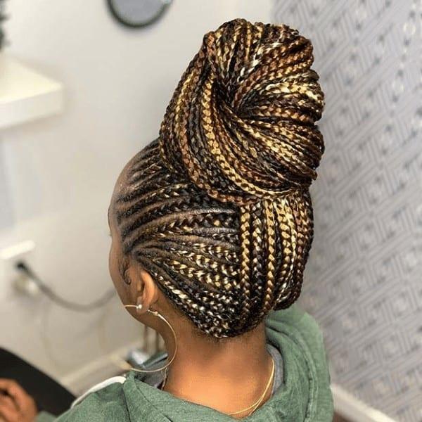 Multi tone braided bun