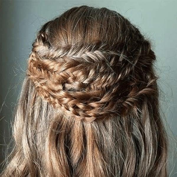 Quadruple Crown Braid Hairstyle