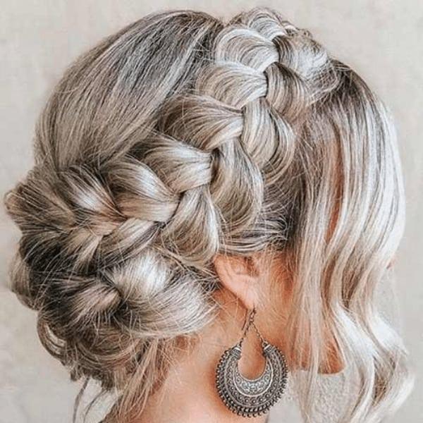 Queen Crown Braid Hairstyle