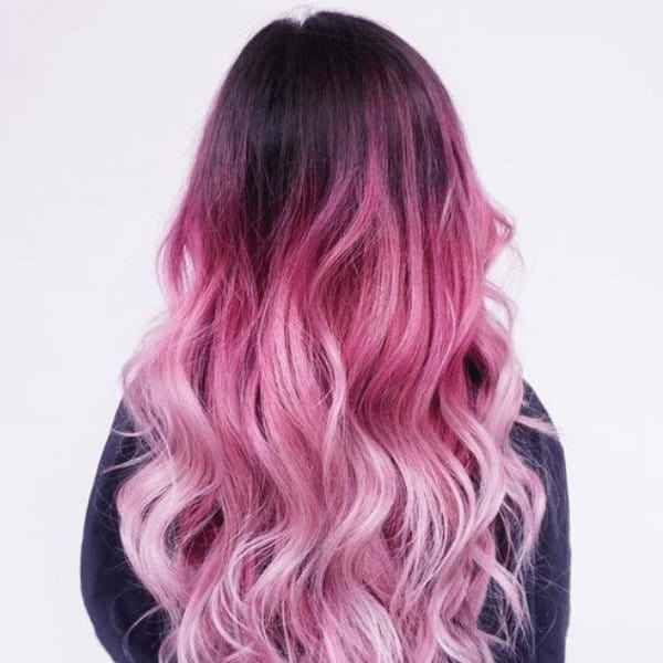 Stylish pink Ombre